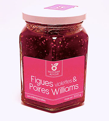 confiture de figues violettes et poires williams